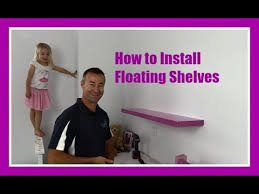 how to hang floating shelves on a