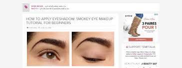 how to apply eyeshadow smokey eye makeup tutorial for beginners