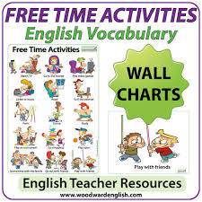 Free Time Activities Esl Wall Charts Flash Cards