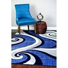 rugs blue swirls modern abstract area rug contemporary 4 x 5