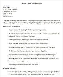 Fresher Teachers Resume Sample Filename Namibia Mineral Resources