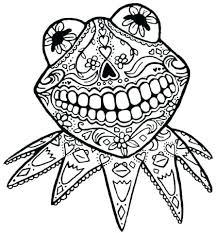 Skull Coloring Book Sugar Skull Day Of The Dead Original Art