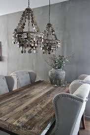 stunning dining room features silver gray wall color