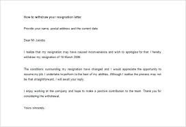 Rescind Letter Of Resignation New Withdraw My Resignation Letter Template Format Thewhyfactor Co
