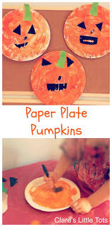 art and craft ideas for toddlers pinterest. paper plate pumpkins easy halloween craft idea for toddlers and preschoolers. art ideas pinterest r