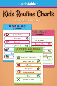 Daily Routine Chart Template Jasonkellyphoto Co