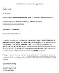 Business Meeting Request Letter Template 9 Sample Appointment