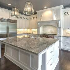 kitchen white island granite top overhang