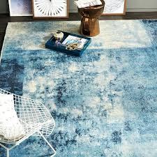 west elm area rugs distressed rococo wool rug blue lagoon west elm