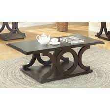 room table displays coaster set driftwood: coaster company furniture cappuccino coffee table