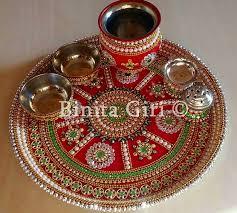 Pooja Ki Thali Design Puja Thali Thali Decoration Ideas Kalash Decoration