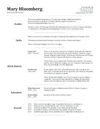 Examples Of Resumes Templates Resume Template Instance Resume