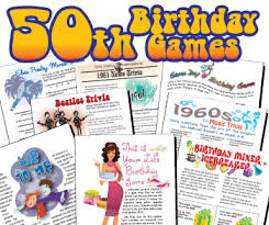 Celebrate the 50th birthday of your husband, wife, girlfriend or boyfriend in the most amazing way with our detailed guide.includes decoration and theme there is no shortage of ideas for a 50th birthday party. 50th Birthday Party Games