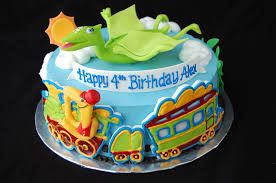 Dinosaur Train Birthday Cake Front Inspired By The Pbs K Flickr