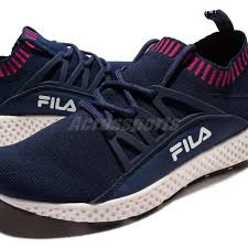 fila shoes 2017. fila j307r navy pink women running shoes slip-on sneakers trainers 5-j307r-321 2017
