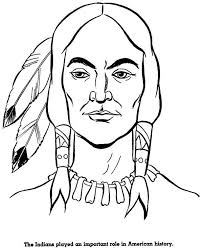 Native American Face Coloring Pages Coloringstar