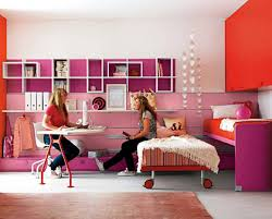 Small Bedroom For Teenage Girls Two Tone Stripes Wall Paint Ideas Teenage Girl Bedroom Ideas For