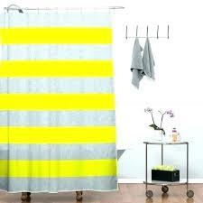 mustard yellow shower curtain useful striped fabric and gray yello