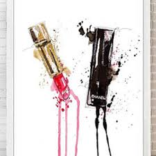 red lips watercolor print fashion poster abstract lips art lipst on red lipstick wall art with shop lips wall art on wanelo