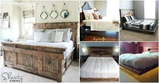 pallet bed frame instructions diy pallet queen bed frame instructions
