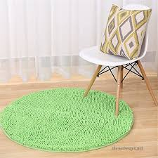 boweaey chenille round gy area rugs super soft circular carpet home mat decorative floor carpets play