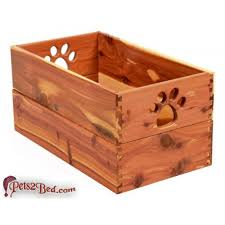 dynamic accents large wooden cedar toy box for dogs