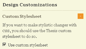 Did you remember to enable your custom css file from the options panel