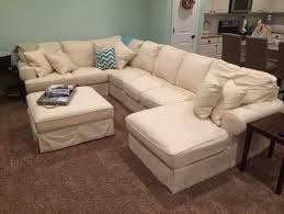 Ashley Furniture White Slipcover Sectional