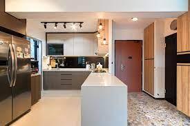 Joo Seng Green Simple Kitchen Open Concept Kitchen Kitchen Design