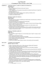 Surgical Assistant Resume Surgical Assistant Resume Samples Velvet Jobs 1