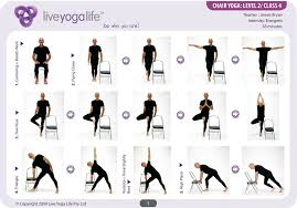 chair yoga for seniors. yoga with a chair level 2 \u2013 class 4 for seniors y