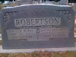 Wesley Burke Robertson (1870-1936) - Find A Grave Memorial