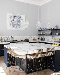 Designed Kitchens Fascinating Grey Blue And Marble INTERIOR [R] Kitchen Pinterest Marbles