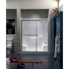 framed sliding shower doors. Framed Sliding Shower Door In Silver With Handle Doors