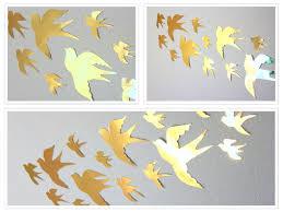 ... Paper Bird Wall Decor Gold Nursery Decor Gold Wall Decor ...