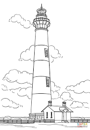 Small Picture Bodie Island Lighthouse North Carolina coloring page Free