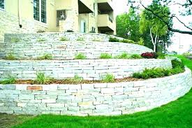retaining wall cost stone natural fence dry per metre materials bricks re