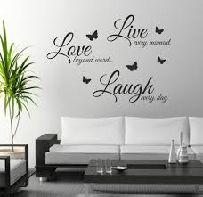 Foodymine Live Laugh Love Wall Art Sticker Quote Wall Decor Wall
