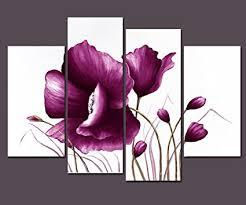 wieco art purple plum flowers canvas prints wall art decor for living room bedroom home decorations on plum flower canvas wall art with amazon wieco art purple plum flowers canvas prints wall art