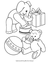 Small Picture Toy Animal coloring page Stuffed Elephant and Bear Coloring