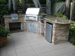 Nice Modular Outdoor Kitchen Design With Granite Counter Top And - Bull outdoor kitchen