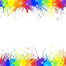 colorful paint splatter border. Bright Colorful Background With Rainbow Colored Paint Splashes And Space For Text Seamless Borders Inside Splatter Border