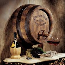 wine barrel wall décor