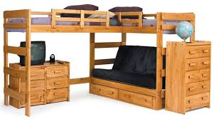 Inspiring Sofa Leather Espresso Wood Futon Bunk Bed For Picture