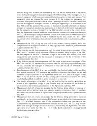 articles of organization and operating agreement provisions modifying   substantial financial 7