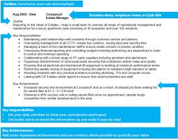 create a high impact cv in simple steps professional cv template high impact cv role description