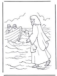 Jezus Loopt Op Water Bijbel Kleurplaten Nieuwe Testament