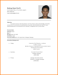 Lovely Example Of Student Resume Philippines About Fascinating