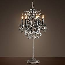 fabulous chandelier desk lamp and factory modern vintage crystal candle lighting rustic table