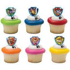 24 Paw Patrol Ruff Ruff Rescue Cupcake Cake Rings Birthday Party